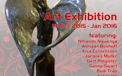 "You are invited: ""It's not our Art, but our Heart"" Art Exhibition at MORCEAU DE MANTEL 14 Dec 2015 – 2016 Fourways, JHB."
