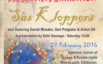 ELNO ARTS invite: SAN Art & Books on SA Artist's – Sas Kloppers 16 – 21 Feb 2016 in Centurion