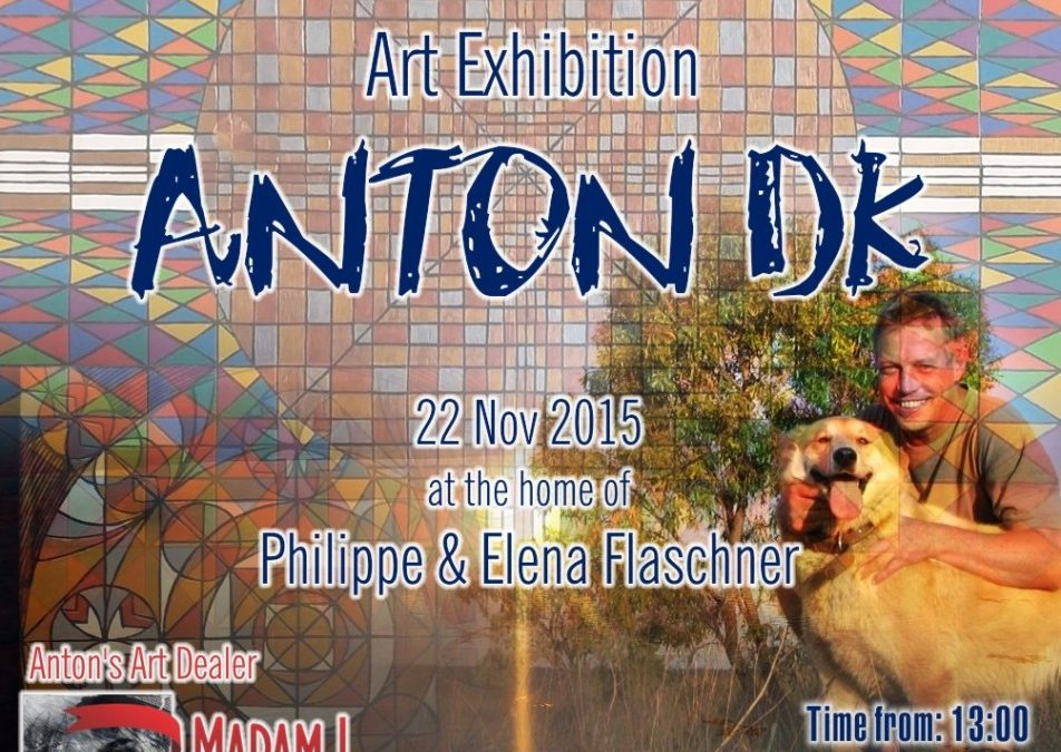 Anton DK's 1st Art Exhibition in JHB 22 November 2015 from 13:00